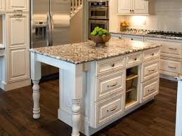 kitchen island table with granite top