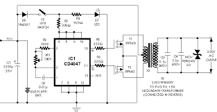 circuit zone com electronic projects electronic schematics diy 12v dc to 220v 100w inverter