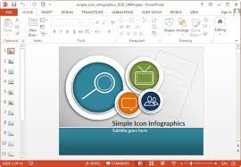Simple Icons Infographic Template For Powerpoint And Keynote