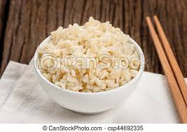 cooked brown rice in a bowl. Brilliant Cooked Cooked Brown Rice  Csp44692335 In Cooked Brown Rice A Bowl P