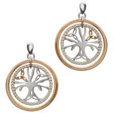irish earrings real irish gold sterling silver celtic tree of life by house of
