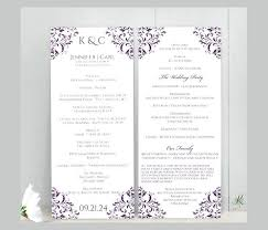 Wedding Program Templates Free Word Wedding Ceremony Program Template Word Programs Templates Free Pdf