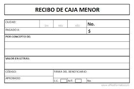 Modelo De Recibo Formato Recibo De Caja Menor