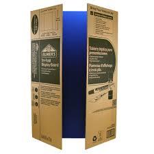tri fold board size elmers corrugated tri fold display board