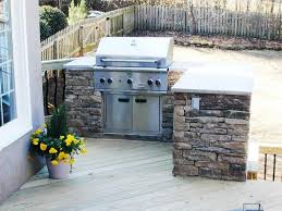outdoors simple outdoor kitchen kits with modern grill and natural stone table outdoor kitchen