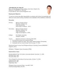 College Application Resume Outline Example Resume For High School Mesmerizing Resume Applicant