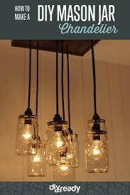 sunshiny learn to make a diy mason jar chandelier diy lighting how to make a mason