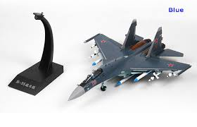 Model Airplane Display Stands Amazing 3232 Scale Modern Military Aircraft Model Russia SU32 Jet Fighter