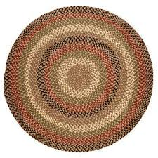 country medley natural earth 4 ft x 4 ft round indoor outdoor braided