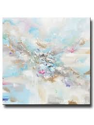 original art abstract light blue white painting large 48x48 canvas coastal grey beige aqua wall art