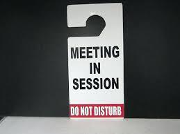 Do Not Disturb Meeting In Progress Sign In Session Door Hanger Do Not Disturb Progress Sign Meeting Piliapp Co