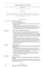 Social Media Manager Resume samples