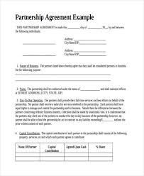 49 Examples Of Partnership Agreements Business Partnership Agreement