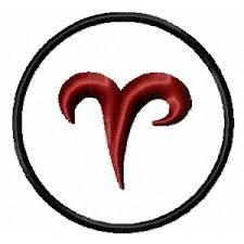 Výšivka Znamení Zvěrokruhu Beran Aries Vyšívání Náš Koníček