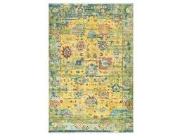 festival rectangular yellow green blue area rug teal oriental orange and