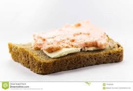 Sandwich Of Black Bread Stock Image Image Of Plate 105809823