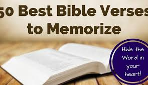 50 most important verses to memorize