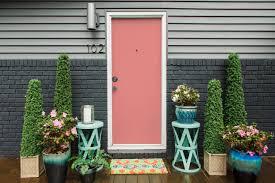 Coral Front Door 9 Ways To Spruce Up Your Outdoor Space For Spring Hgtvs