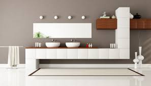 bathroom modern vanities. Beautiful Vanities Modern Double Bathroom Vanities With White Varnished Wooden Wall Mounted  Vanity And Ceramic Sink Also Brown Laminated Cabinet I