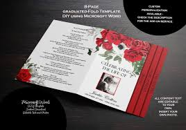 Design Your Own Funeral Program Funeral Program Template 8 Pages Graduated Fold Funeral