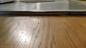 layers of old flooring