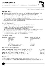 Autocad Drafter Resume Fascinating Draftsman Cad Drafter Resume Civil Cover Letter Sample Drafting