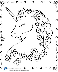 free printable unicorn coloring page from projectsforpreers crafts unicorns free printable and birthdays