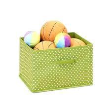 Decorative Fabric Storage Boxes Small Fabric Storage Bins Small Dot Green Fabric Soft Storage 77