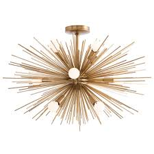 this arteriors favorite brings its iconic sputnik like form to rooms of every size from the dining room that calls for a large chandelier to the a hallway
