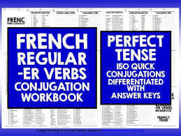 french er verbs french er verbs perfect tense by livelylearning teaching