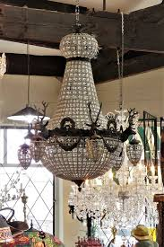 large 6 arm stag head hanging basket chandelier 4950 00
