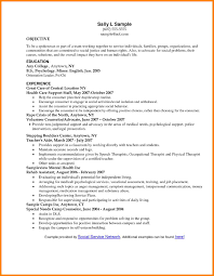 Resume Objective Social Work Resume For Your Job Application