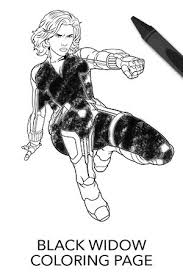 Small Picture Avengers Black Widow Coloring Page Disney Movies