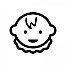 赤ちゃんの顔のシルエット 無料のaipng白黒シルエットイラスト