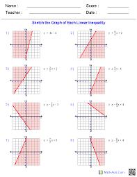 Algebra 1 Worksheets | Linear Equations Worksheets