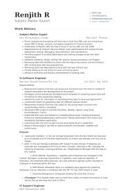 Subject Matter Expert Resume samples