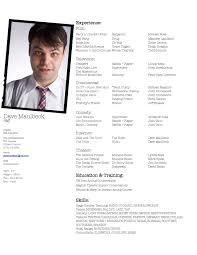 Acting Resume Go Dave Go