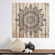 >mandala stencils stencil a beautiful mandala design on your walls  more views mandala stencil recailmed wood stenciled wall art stencils