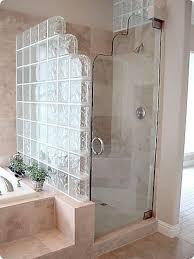 glass blocks for shower bathroom