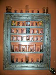 disply cse glsses plns shot glass display case with door