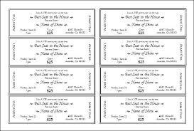 Concert Ticket Invitation Template Free Beautiful Templates