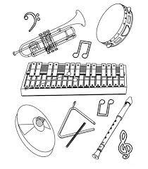Kids N Fun Kleurplaat Muziekinstrumenten Verschillende Instrumenten