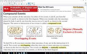 Disjoint Venn Diagram Example Regular Algebra 2 Section 10 4 21 Minutes Yankton High