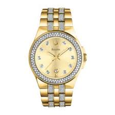 bulova® mens gold tone crystal accent watch 98b174 jewelry bulova® mens gold tone crystal accent watch 98b174 jewelry watches watches and bulova