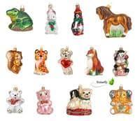 Christbaumschmuck Figuren Tiere Auswahltiger 10cm