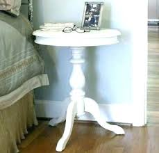 pedestal side table wood white round end table unfinished accent table side table weathered wood pedestal