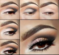 smoky eyes makeup tutorials coffee and silver