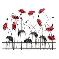 large black stem poppies with fence wall art on poppy wall art uk with large black stem poppies with fence wall art patioandterrace uk