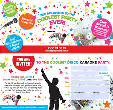 invitation for a party kids disco birthday party adelaide bop till you drop