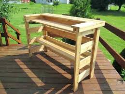 how to build an outdoor wooden bar wooden pallet bars have to be rustic they can
